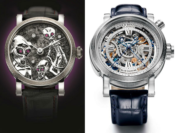 Grieb & Benzinger Area 51 Luxury Watch, With Aliens