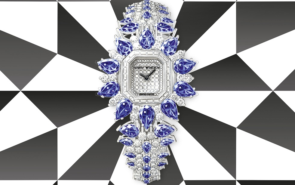 Harry Winston Dazzles with Marble Marquetry and Ocean 20th Anniversary Biretrograde Automatic 36mm
