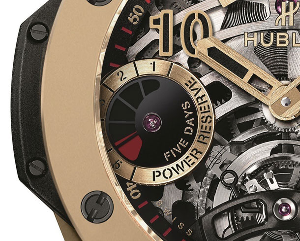 Hublot Big Bang Unico and Hublot Big Bang Tourbillon 5-day Power Reserve Indicator Full Magic Gold