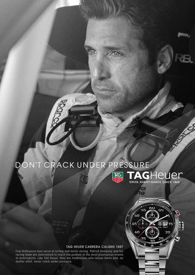 Don't Crack Under Pressure is New TAG Heuer Brand Message, Hints To Future Company Direction